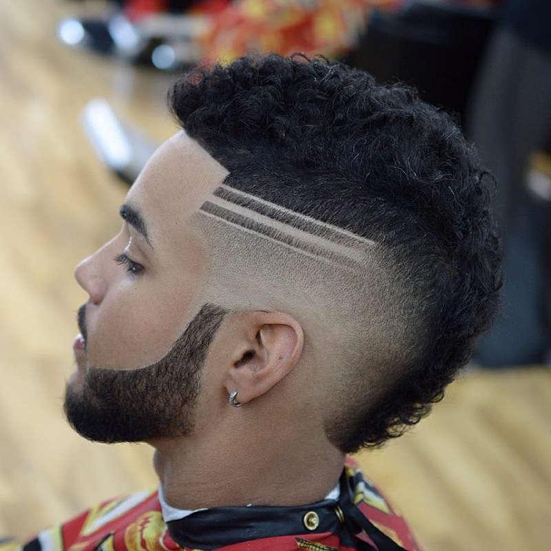Sfumatura artistica barba e capelli con clipper